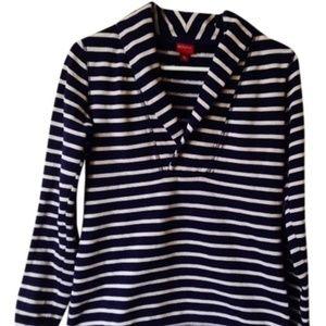 Merona Cowl Neck Nautical Striped Sweatshirt